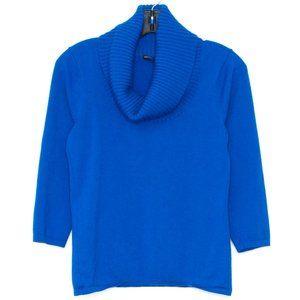 Antonio Melani Sweater WOOL Cowl Blue Medium CH